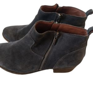 Lucky Brand  gray Betwixt booties, sz 11